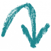 XY- Marker Doodles- Teal Arrow 5