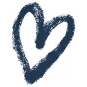 XY- Marker Doodles- Navy Heart 3