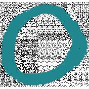 XY- Marker Doodles- Teal Circle