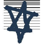 XY- Marker Doodles- Navy Star 2
