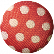 Work Day- Elements Kit- Polka Dot Fabric Button
