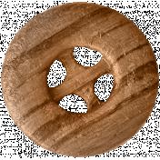 Autumn Day- Elements- Wooden Button