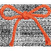 That Teenage Life- Elements- Orange Twine Bow