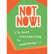 That Teenage Life- 3x4 Journal Cards- Not Now!