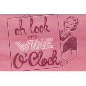 Pour Me A Wine- Journal Cards- It's Wine O'Clock