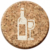 Pour Me A Wine- Elements- Cork Circle Glass and Bottle