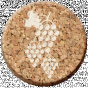 Pour Me A Wine- Elements- Cork Circle Grapes
