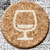 Pour Me A Wine- Elements- Cork Circle Wine Glass Empty