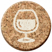 Pour Me A Wine- Elements- Cork Circle Wine Glass Full