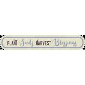 Thankful Harvest- Elements- Harvest Blessings
