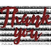 Thankful Harvest- Elements- Wood shape Thank You