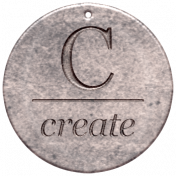 Create Something- Elements- Round Metal Tag Create