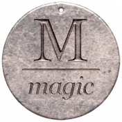 Create Something- Elements- Round Metal Tag Magic