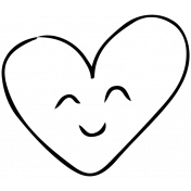 Sweet Dreams- Templates- Sketch Heart 2