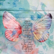 Create Something- Papers- Watercolor Butterfly