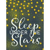Sweet Dreams- Journal Cards- Sleep Under Stars 3x4