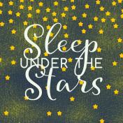 Sweet Dreams- Journal Cards- Sleep Under Stars 4x4