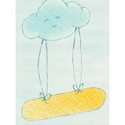 Sweet Dreams- Journal Cards- Cloud 3x4