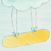 Sweet Dreams- Journal Cards- Cloud 4x4
