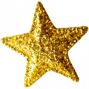 Sweet Dreams- Elements- Gold Glitter Star
