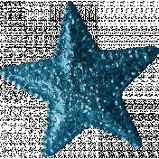 Sweet Dreams- Elements- Teal Glitter Star