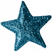 Sweet Dreams- Elements- Teal Glitter Star