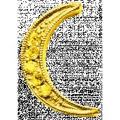 Sweet Dreams- Elements- Gold Metal Moon