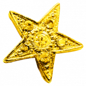 Sweet Dreams- Elements- Gold Metal Star