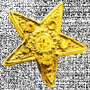 Sweet Dreams- Elements- Gold Metal Star