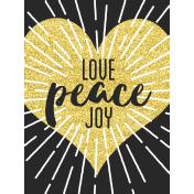 Christmas Day- Journal Cards- Love Joy Peace 3x4