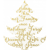 Christmas Day- Elements- Gold Vellum Tree