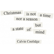 Christmas Day- Elements- Word Art Calvin Coolidge