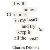Christmas Day- Elements- Word Art Charles Dickens