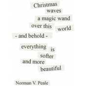 Christmas Day- Elements- Word Art Norman Peale