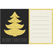 Christmas Day- Journal Cards- Merry christmas 6x4