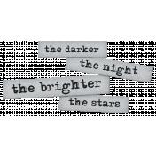 Dream Big Elements Kit- Word Art- Dark Night Bright Star