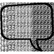 Talk Bubble Shapes- Talk Bubble 6- Outline