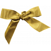 Christmas Day- Elements- Gold Bow