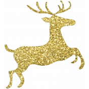 Christmas Day- Elements- Gold Deer