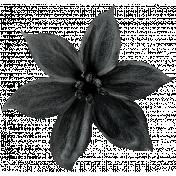 Christmas Day - Elements - Flower 01 - Black