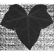 Christmas Day- Elements- Leaf 01- Black