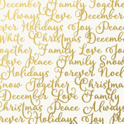 Christmas Day- Papers- Words- Vellum Overlay