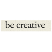 New Years Resolutions- Be Creative