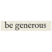 New Years Resolutions- Be Generous