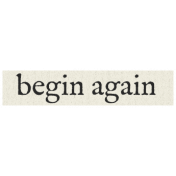 New Years Resolutions- Begin Again