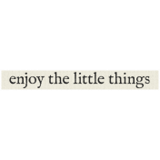 New Years Resolutions- Enjoy the Little Things