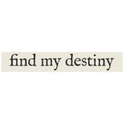 New Years Resolutions- Find My Destiny