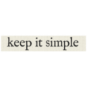 New Years Resolutions- Keep It Simple