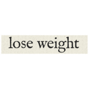 New Years Resolutions- Lose Weight