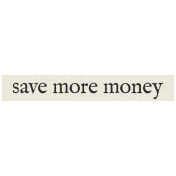 New Years Resolutions- Save Money